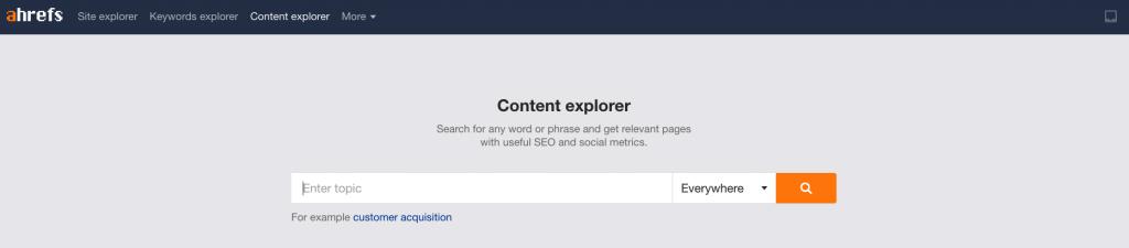 谷歌优化工具 ahrefs content explorer