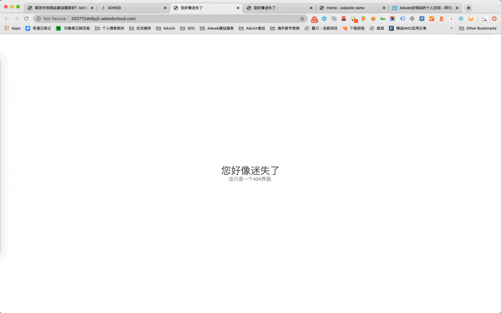 网站页面404