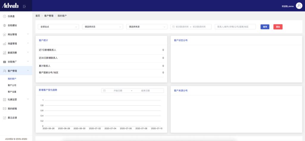 adweb全球站客户管理