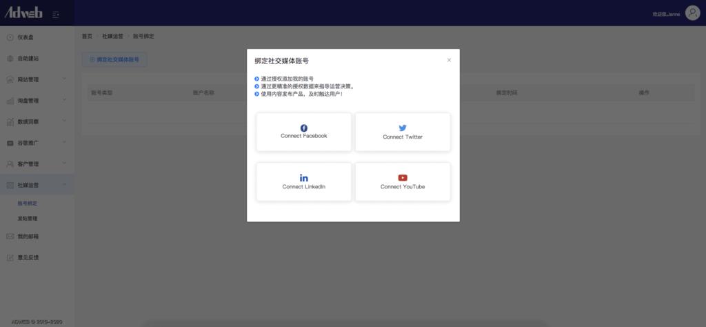 adweb全球站社媒运营