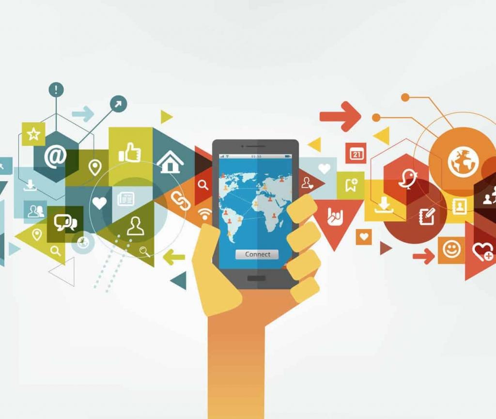 社交媒体软件受众广