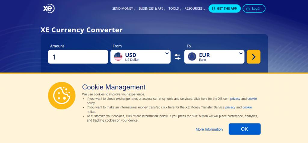 常用外贸工具——XE Currency 转换器